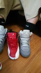Jordan Retro 5 and 12