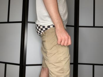 Khaki Shorts/2XIST Checkerboard Boxer Briefs